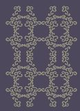 Decor line. Geometric shapes and floral patterns create a framework that royalty free illustration