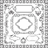 The decor ornane design elements set Royalty Free Stock Photo