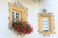 Decor painted windows Royalty Free Stock Image
