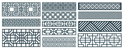 Decor pattern collections Stock Photo