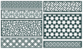 Decor pattern collections Royalty Free Stock Images