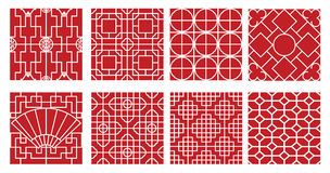 Decor pattern collections Stock Image