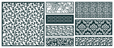Decor pattern collections Stock Images