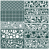 Decor pattern collections Royalty Free Stock Photo