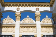 Decor of a pavilion of the Expocenter of Ukraine Royalty Free Stock Photos