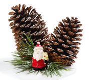 Decor with Santa Claus Stock Photography