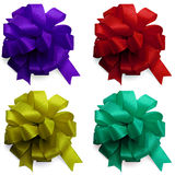 Decor satin bows isolated Stock Images