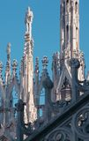 Decor and statues of the Duomo Cathedral Stock Photography