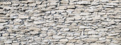 Decor stone wall backround. Detailed grunge texture Royalty Free Stock Images