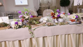 Decor Table with flower stock video