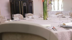 Decor Table with flower stock video footage