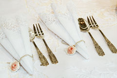 Decor table set Stock Photography