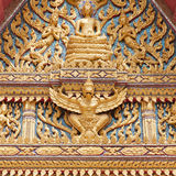 Decor on a thai buddhist temple Royalty Free Stock Image