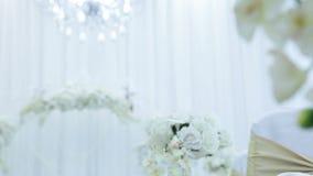 Decor wedding ceremony stock video