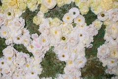 Decor of white flowers for wedding ceremony Stock Photo
