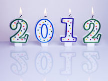 Decoração 2012 do ano novo Imagens de Stock Royalty Free