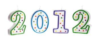 Decoração 2012 do ano novo Fotografia de Stock Royalty Free