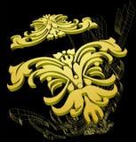 decoração 3D. Wireframe. ilustração do vetor