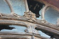 Decoração abandonada da janela imagens de stock royalty free