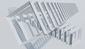 A decoração abstrata, teste padrão do quadro quadrado objeta O fundo minimalista rende a imagem ilustração do vetor
