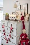 Decoração acolhedor do Natal Fotos de Stock