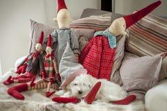 Decoração acolhedor do Natal Fotografia de Stock
