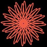 Decora??o alaranjada da estrela transparente do ilustration ilustração stock