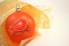 Decoração alaranjada do Natal Foto de Stock