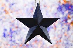 Decoração americana do feriado no fundo efervescente Imagem de Stock Royalty Free