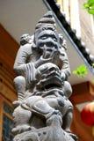Decoração antiga chinesa da casa da escultura de pedra Foto de Stock Royalty Free