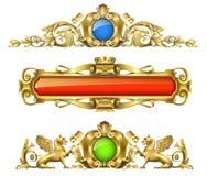 Decoração arquitetónica clássica do ouro Fotos de Stock Royalty Free