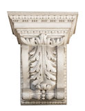 Decoração arquitetónica de mármore bonita com elementos florais Imagem de Stock