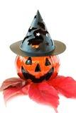 Decoração assustador da abóbora de Halloween Imagem de Stock