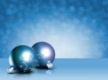 Decoração azul denominada moderna do Natal. fotografia de stock