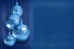 Decoração azul denominada moderna do Natal do metal fotos de stock