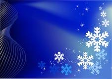 Decoração azul do fundo do Natal Foto de Stock