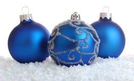 Decoração azul do Natal Imagens de Stock Royalty Free