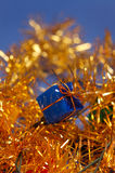 Decoração azul do Natal Foto de Stock Royalty Free