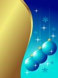 Decoração azul dourada ilustração do vetor