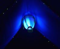 A decoração azul ilumina a fotografia do fundo Imagem de Stock