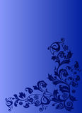 Decoração azul no fundo azul ilustração royalty free