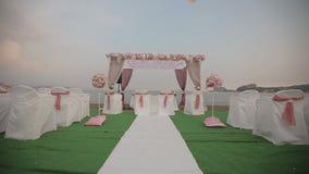 Decoração bonita da cerimônia de casamento video estoque