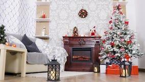 Decoração bonita do White Christmas vídeos de arquivo