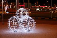 Decoração bonita na 42nd celebração do dia nacional em Barém Imagens de Stock Royalty Free