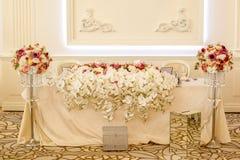 Decoração bonita para o casamento foto de stock royalty free
