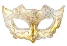 Decoração branca da máscara na árvore de Natal Imagens de Stock Royalty Free