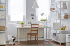 Decoração branca e marrom Fotos de Stock