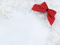 Decoração branca e vermelha do Natal Fotografia de Stock