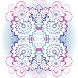 Decoração brilhante, colorida das flores brancas com ondas ilustração stock