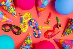 Decoração brilhante para um aniversário, um partido, um festival ou um carnaval fotografia de stock